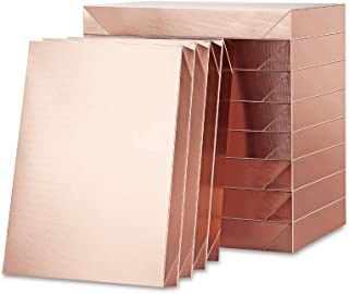 ROSEGLD 12 Gift Boxes with Lids 11x8.5x1.5 Inches Apparel Gift Boxes Clothing Gift Boxes Rose Gold Gift Wrap Boxes Grain T...