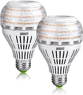 SANSI 27W (equivalente a 250W) Bombillas LED de bajo consumo, Brillantes 4000lm E27 Bombillas LED de tornillo Edison, 3000K bombillas suaves y cálidas, Paquete de 2