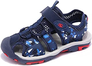 GUBARUN Kids Sport Sandals Closed Toe Boys Lightweight Athletic Beach Shoes (Toddler/Little Kid/Big Kid)