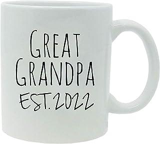 Great Grandpa Established Est. 2022 11-Ounce Ceramic Coffee Mug with Gift Box (White)