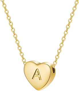 NFRADFM Heart Pendant Necklace Womens Gold Small Charm Collar Short Necklace Wedding Jewelry Gift