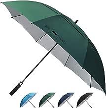 Prospo 62/68 inch Golf Umbrella UV Protection Auto Open Large Windproof Stick Vented Sun Rain Umbrellas