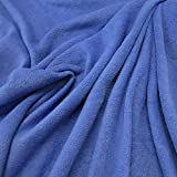 Stoff Meterware Fleece Polar - Fleece weich kuschelig blau