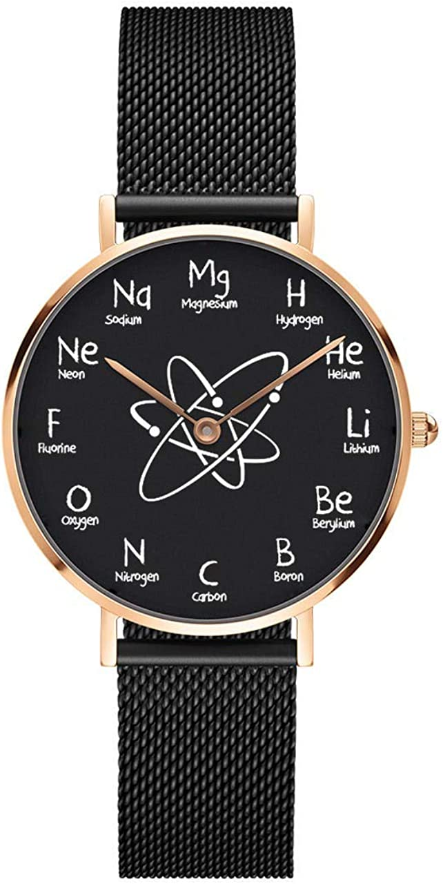 Chemistry Watch with Chemical New Super beauty product restock quality top! Free Shipping Dial - Black Elements