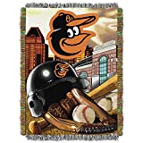 MLB Baltimore Orioles 'Home Field Advantage' Woven Tapestry Throw Blanket, 48' x 60'