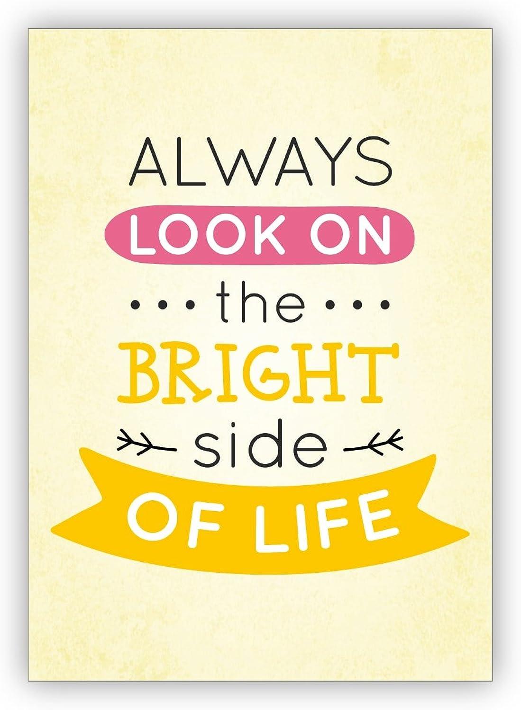 Glückwunschkarten Set (16Stk) Motivierende, sonnige sonnige sonnige Motto Grußkarte für Bestee Freunde  Always look on the bright side of life B073XK96SM   Diversified In Packaging  d47be1