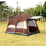 Lushi Two-bedroom and one-living room camping tent for 6-8 people and 8-12 people