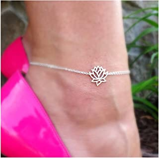 Gold Silver Lotus Flower Pendant Necklace for Women Lotus Jewelry for Mothers Gifts