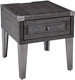 Signature Design by Ashley Todoe Rectangular End Table Dark Gray
