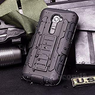 Cocomii Robot Armor LG G2 VS980 LS980 Case New [Heavy Duty] Premium Belt Clip Holster Kickstand Shockproof Bumper [Military Defender] Full Body Dual Layer Rugged Cover for LG G2 VS980 LS980 (R.Black)