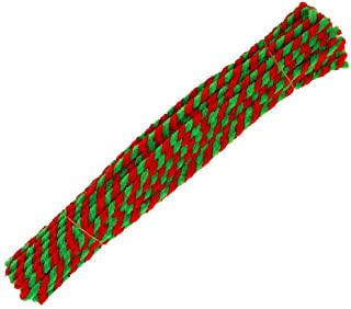 50個 29.5cm (11.6インチ) クリスマス ストライプ シェニール ステム パイプクリーナー パイプクリーナー ティンセル シェニールステム クリエイティブクラフト DIY アート用品 レトロ クリスマス キャンディケイン クラフトプ...