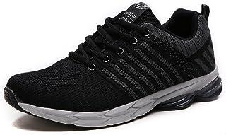 4fd1fb7807a NEOKER Zapatillas Running para Hombre Aire Libre y Deporte Transpirables  Casual Zapatos Gimnasio Correr Sneakers Verde