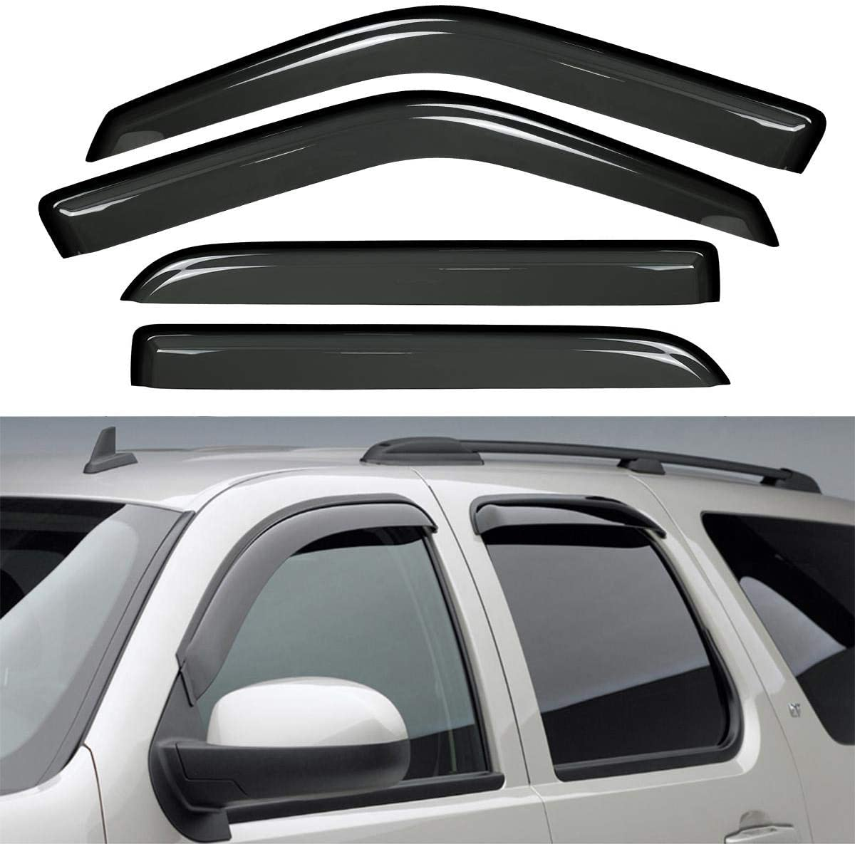 wholesale Yhang 4pcs for San Antonio Mall 97-17 Expedition Wind Dark Out-Channel Outs Smoke