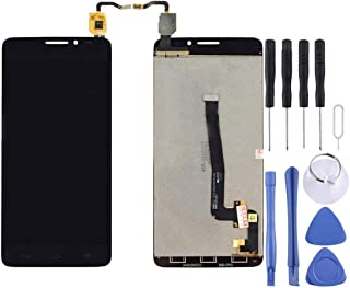 مجموعة كاملة من شاشة LCD ومحول رقمي من Lingland لهاتف Alcatel One Touch Idol X+ / 6043 / 6043D (أسود) .Phone Phone Phone ا...
