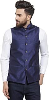 Ben Martin Men's Dupion Silk Nehru Jacket Waistcoat-(BM-WS-PLAIN)
