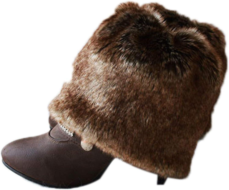 Elonglin Our shop OFFers the best service Brand Cheap Sale Venue Women's Faux Fur Winter Leg Warmers Topper Kn Cuff Boot