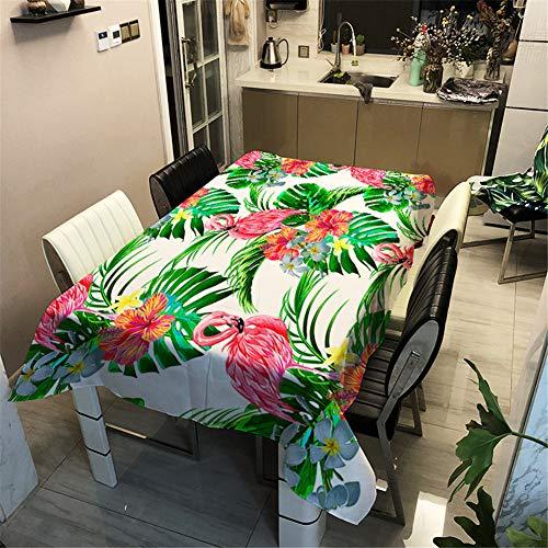 Morbuy Nappe Anti Tache Rectangulaire/Carrée,Imperméable Étanche à l'huile 3D Imprimé Couverture de Table Lavable pour Ménage Cuisine Jardin Picnic Exterieur (Verte Monstera,140x200cm)