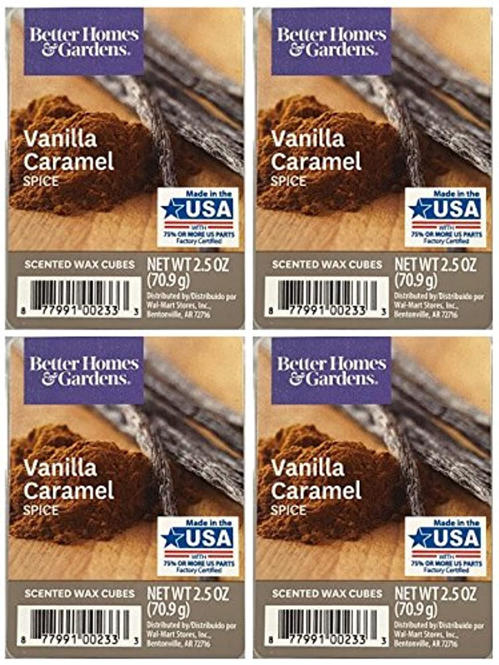 Better Homes and Gardens Vanilla Caramel Spice Wax Cubes - 4-Pack mxnndo548481