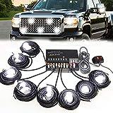 SMALLFATW Hideaway Strobe Lights Kit 8 HID Bulbs 16 Flashing Mode...