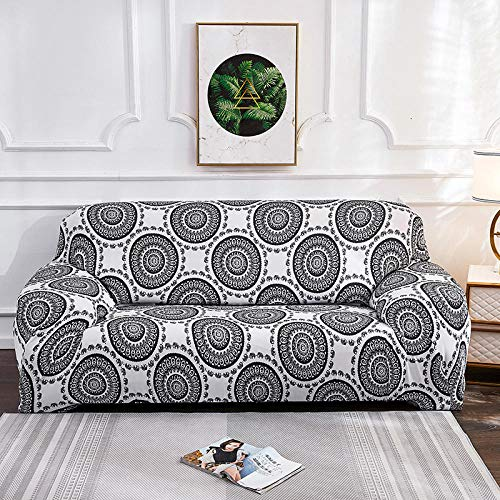 Fsogasilttlv Non Slip Soft Couch Sofa Cover Protector 1 Seater,Printed L Shape Sofa Covers For Living Room, Protector Elastic Stretch Covers For Corner Sofa Cover KK 1PCS 90-140cm