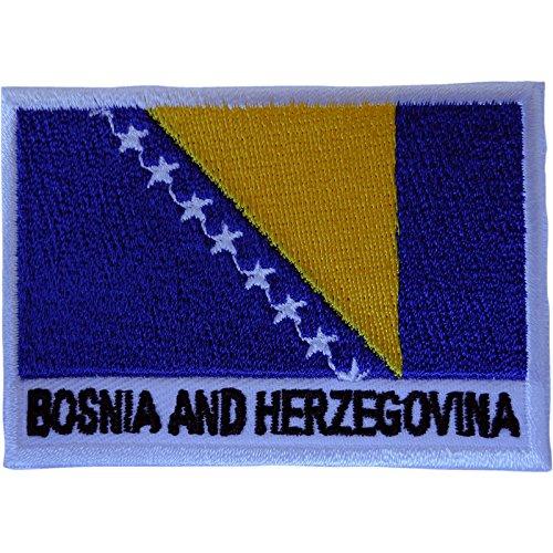 Bosnien & Herzegowina Flagge Patch Eisen Nähen auf Kleidung Bosnische bestickte Abzeichen