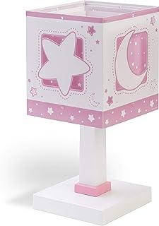 comprar comparacion Dalber Lámparas Mesita Infantil Luna y Estrellas Moon Light Rosa, 40 W
