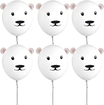 18 Inch White Latex Balloons Party Bear Balloons for Teddy Bear Decorations for Baby Shower Boy Girl Birthday Party Supplies,Bear Party Favors,Bear Gifts for Girls Kids(6 Pack)