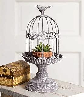 Vintage Style Rustic Metal Song Bird Gazebo Cage Cloche Home Decor