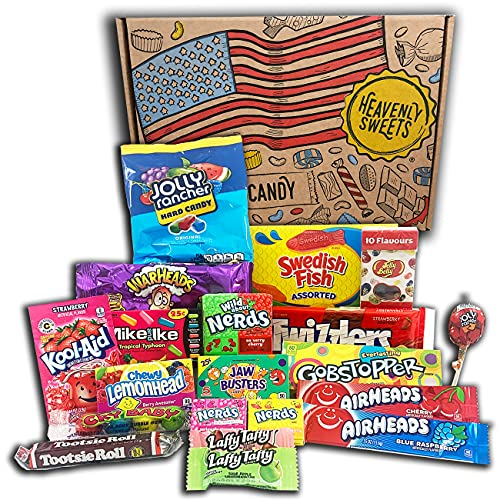 American Sweets Vegetarian Snack and Candy Gift Box Set...