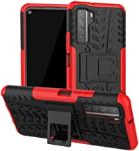 FanTing Case for Samsung Galaxy M31s, Detachable 2 in 1 Shockproof Cover [Drop Resistance] [High Impact] [Heavy Duty] [TPU+PC] With stand function Protective Case -Red