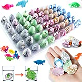 iGeeKid 60 Pack Dinosaur Eggs Hatching Dino Egg Grow in Water Crack with Assorted Color Pool Games Toys & Water Fun Birthday Party Favors for Toddler Kids 3-10 Boys Girls