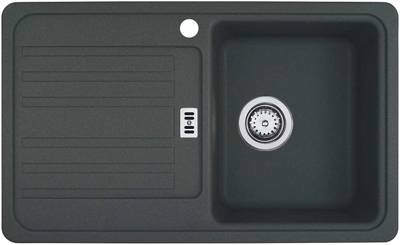 Franke Euroform EFG 614-78 Graphit Granit-Spüle Dunkelgrau Küchenspüle Auflage