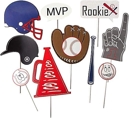 SUNBEAUTY Baseball Deko Foto Requisiten Papier Mottoparty Jugendzimmer Foto Props