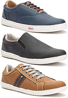 Kit 3 Pares Sapatênis Masculino Prime Shoes Conforto Macio