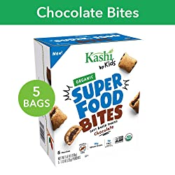 Kashi by Kids Organic Super Food Soft Baked Chocolate Filled Bites, Certified Organic, Non-GMO, Fair