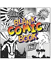 Blank Comic Book For Kids 4-8 Age: Write and Draw Your Own Comics Create Unique Stories With Variety of Templates No Speech Bubbles High Quality Paper Education Gift for Children