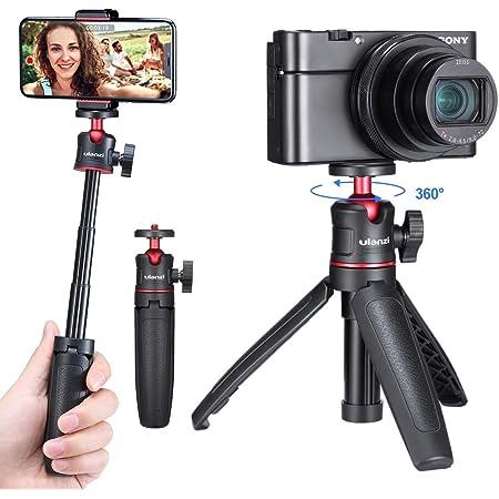 ULANZI MT-08 Extension Pole Tripod, Mini Selfie Stick Tripod Stand Handle Grip for Webcam iPhone 11 Pro Max Samsung Smartphone Canon G7X Mark III Sony ZV-1 RX100 VII A6400 A6600 Cameras Vlogging