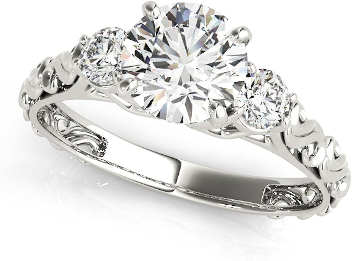women's Diamond Ring 0.5 Ct. Real Three-Stone Engageme Topics on TV Las Vegas Mall