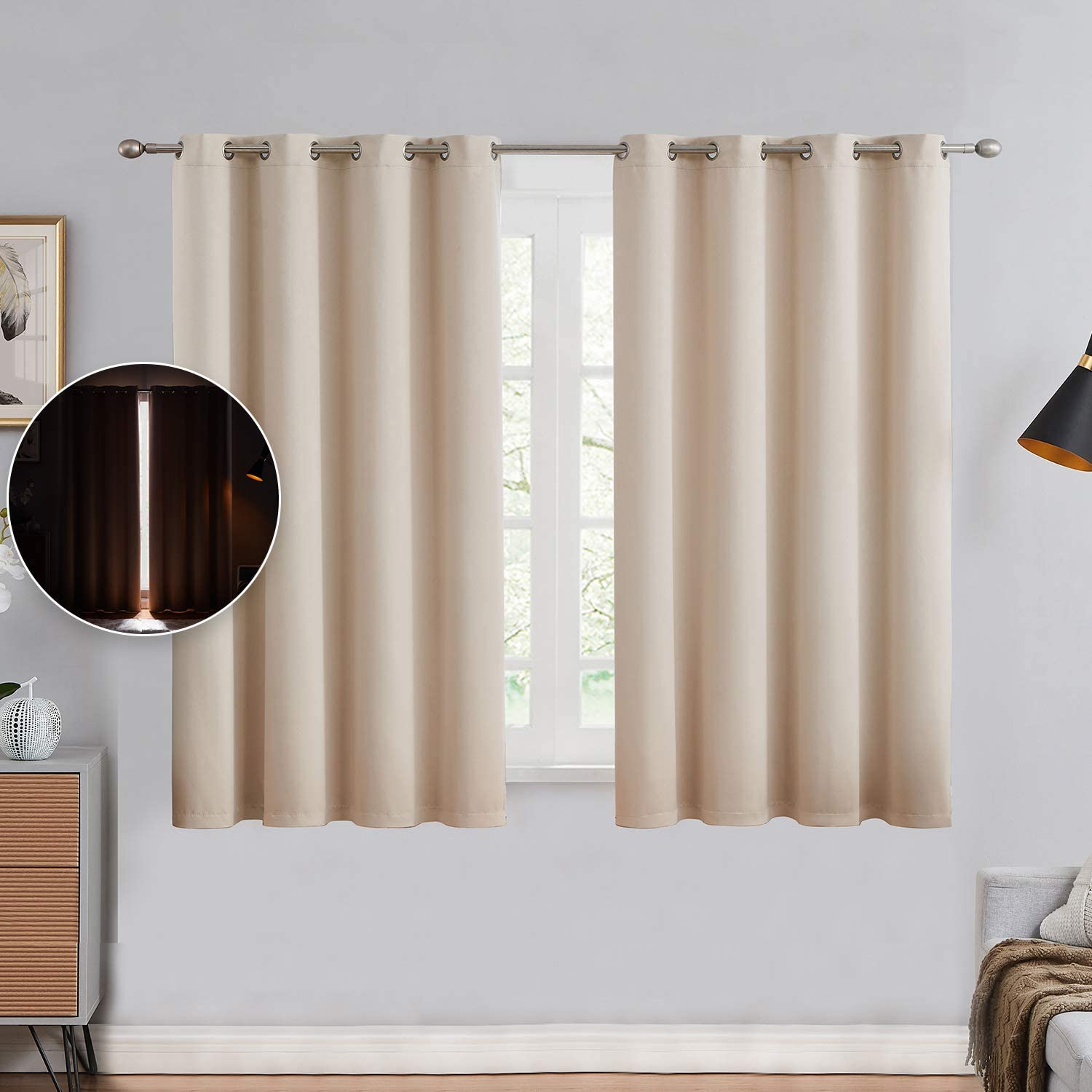Blackout 5 popular Curtains Jacksonville Mall for Bedroom - Solid Energy Thermal Insulated