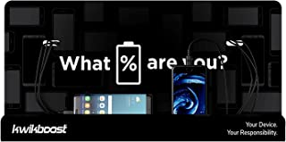 قاعدة شحن الهاتف الخلوي من كويكبوست | كشك متعدد الأجهزة مع 8 منافذ | متوافق مع آيفون وآيباد وسامسونج والأجهزة اللوحية والم...