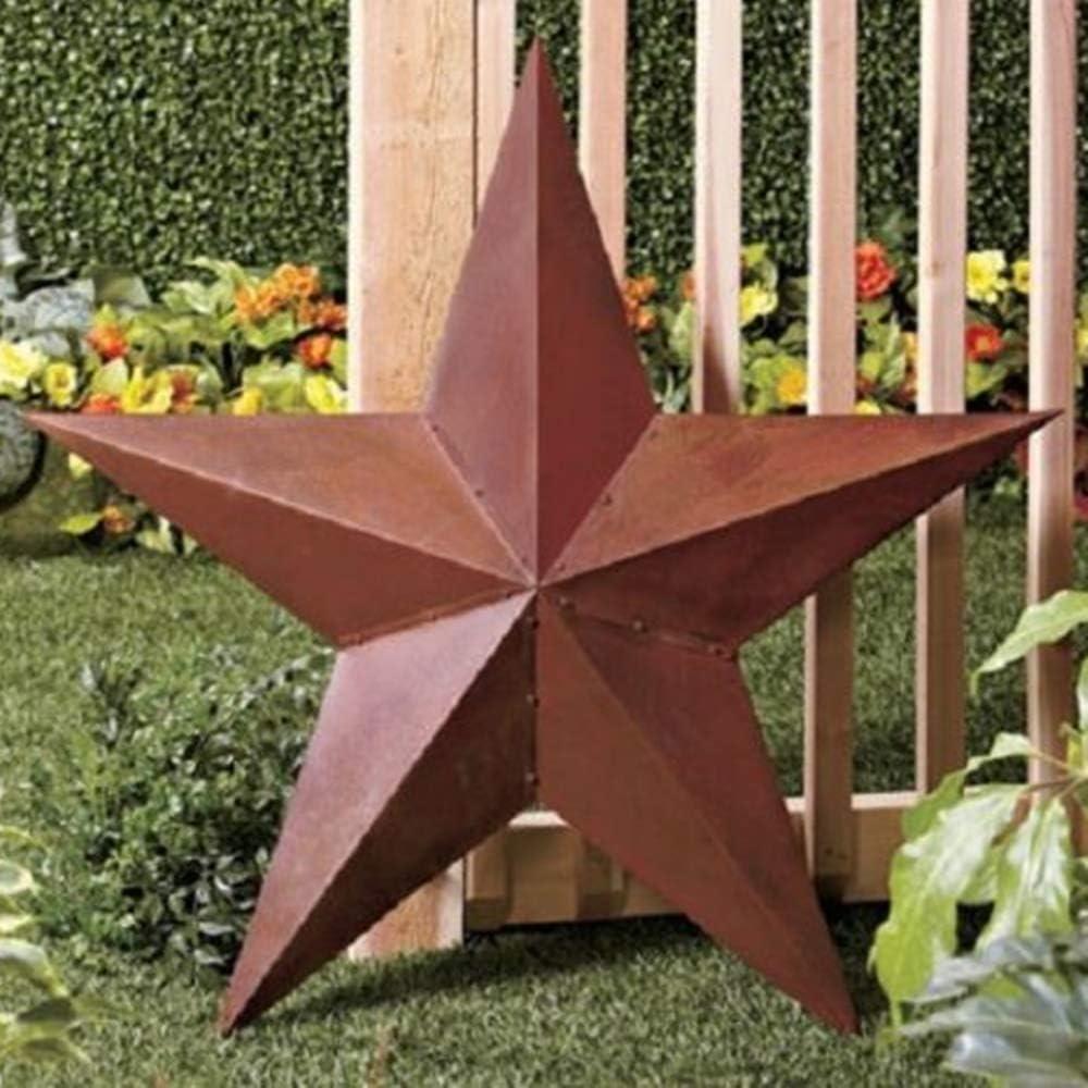 Briskly41 Rustic Barn 毎日続々入荷 Star Outdoor Metal Decoration 3D Large 5☆大好評 Far