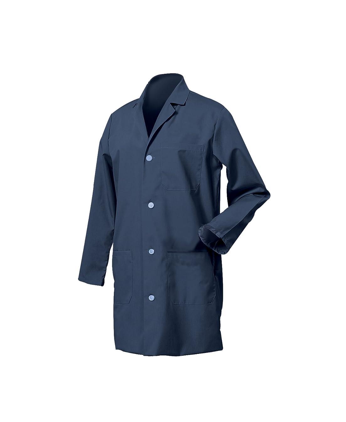 担保離れて発動機Worklon 431S Polyester/Cotton Unisex Lab Coat with Button Front Closure, Small, Navy Blue by Worklon