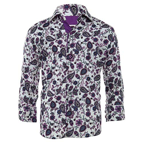 Elie Balleh Milano Italy Casual Shirt Little Kids Style: EBSH238-1T-PURPLE Size: 7