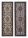 Deco 34087 Elegant Sculpture 2 Assorted Wood Wall Panel