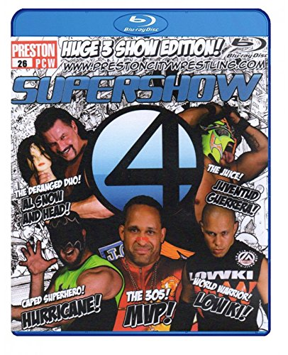 PCW - PRESTON CITY WRESTLING - Supershow 4 2014 3x BLU-RAY