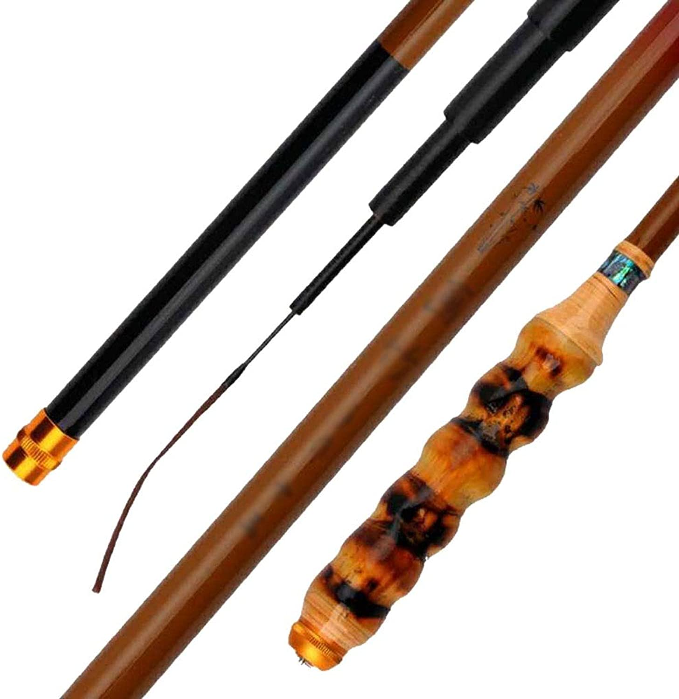 Bambus-Handangelrute, Ultraleichtes Ultra-feines Kohlefaser-Angelwerkzeug 37 Verstellbares Teleskopierbares Tragbares 3,6-6,3 Meter (gre   5.4)