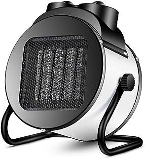 ZHHL Calentadores, radiador industrial pequeño, calentador de ventilador PTC - 2 configuraciones de calor Termostato y corte de seguridad, a prueba de agua