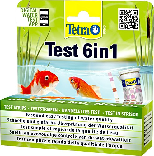 Tetra Pond Test 6in1, 25 pruebas en tiras