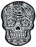 Parche de calavera de Sugarskull México, calavera rockabilly Greaser Latino del Sur
