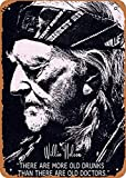 FLmiling Willie Nelson Plaque Poster Metal...